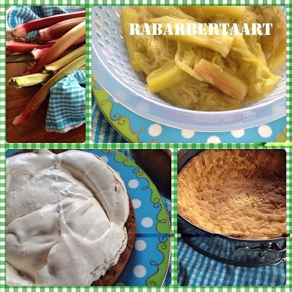 Heerlijke rabarbertaart met schuim (merenque)