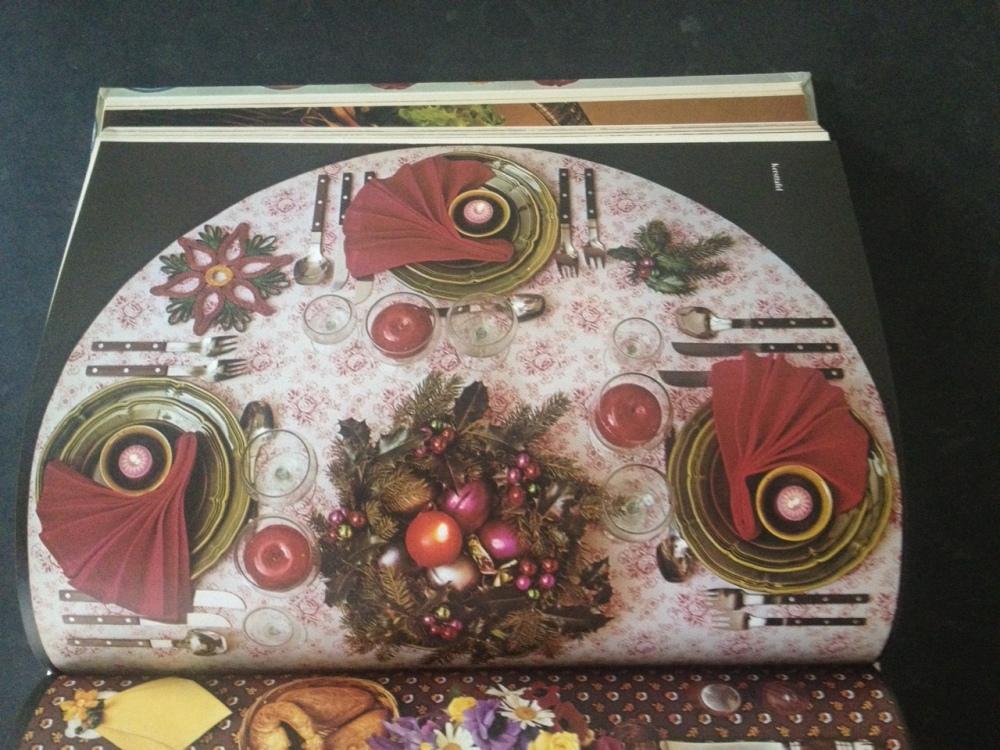gedekte kerst tafel uit de seventies